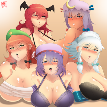 Scarlet Mansion Girls by AndroJuniarto