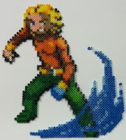 Perler Bead: Aquaman by thewiredslain