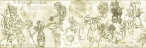 Warcraft Sketches 2 by feedapollyon