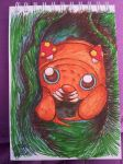 Little Paras, hiding in a tree. by Dragon-princess08