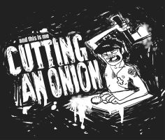 Murdoc Cuts an Onion by akira-candy