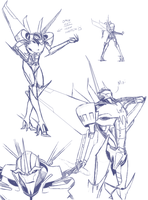 Starscream Sketches by just-nuts