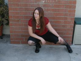 red and black full body 7 by PhoeebStock