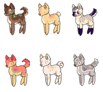 Dog Adopts- 15 points each 1/6 Left by WanderHollow