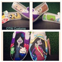 Adventure Time Marceline the Vampire Vans by VeryBadThing