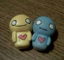 Pon and Zi clay charms by lethy637