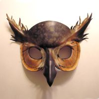 Leather Horned Owl Mask 2 by teonova