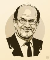 Salman Rushdie by monsteroftheid