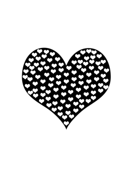 Hearts White And Black by foggraven