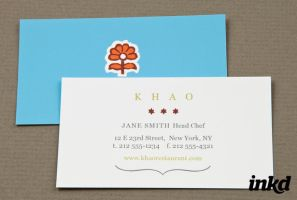 Asian Restaurant Business Card by inkddesign