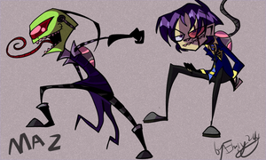 Maz  -Invader-Zim- by Freakly-Show