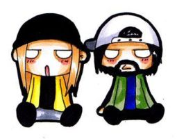Little Jay + Silent Bob by AbbieSTABBY