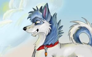 Husky with clouds and sunny by MWmagic