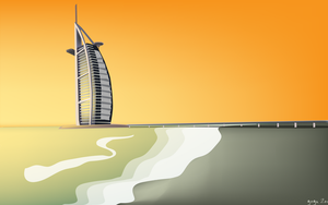 burj al arab sunset 1920 by arturog