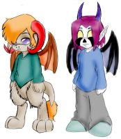 NS Students: Mert and Chimbly by Nightschool