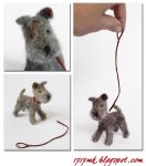 Needle felted in 1 :12 scale grey dog by 1717mk