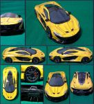 McLaren P1 Papercraft by Mironius