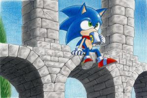 Sonic: Roman acueduct by Dash-Metal-Cheetah