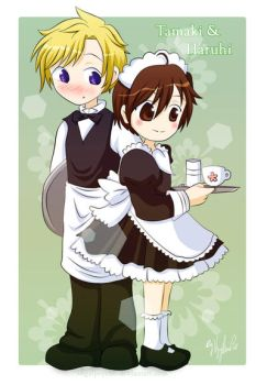 Tamaki -and- Haruhi by 4nGeLpsych0