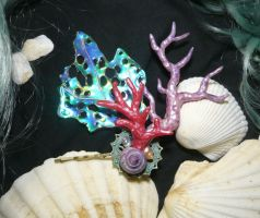 Mermaids Charm - handmade Hairclip by Ganjamira