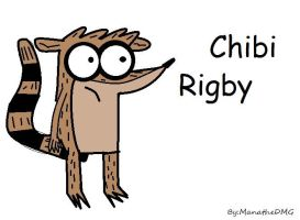 Regular Show- Rigby ( in Chibi version) by ManatheDMG