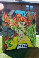 Zombie Bears Graffiti Wall by BengalTiger4