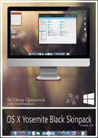 Mac OS X Yosemite Black Skinpack For Win 7/8/8.1 by TheDhruv
