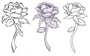 Rose Tattoo Commision by KarianaSan