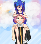 Natsu and Wendy by Antlers-sama