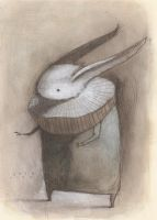White Rabbit with Ruff by SethFitts