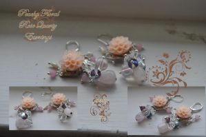 Peachy Rose Quartz Earrings by tanyquil