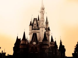 Cinderella Castle in Sepia by kg1507