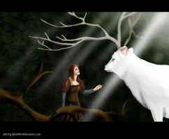 snow white and the huntsman, meeting the stag by MANGAfan0001