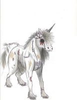 Zombie unicorn by Yuzuki-Chi
