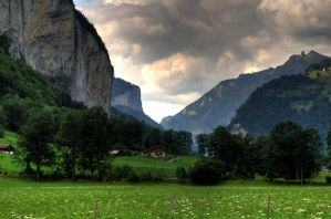 Lauterbrunnen Meadow by 100-days
