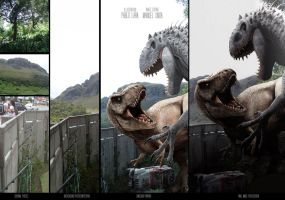 T-REX VS INDOMINUS Making off by pabluratops