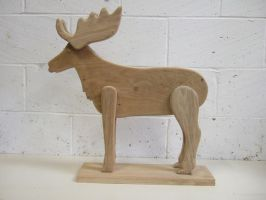 A simple oak moose/deer by arbortechuser