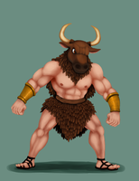 Manly Minotaur by SuperGhostDuck01