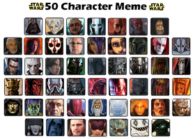 Top 50 Star Wars Characters Meme by DarthVaderXSnips