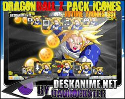 Future Trunks SSJ Pack Icons by Danrockster