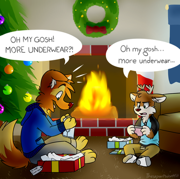 the christmas drawing i guess by ThesePantsDontFit