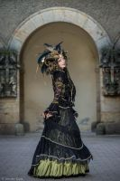 Stock - Black and gold Vampire Queen Faun Demon 47 by S-T-A-R-gazer