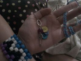 Button and Key Charm by EllasDesigns