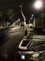 Giraffe In The Street by Tommy92c