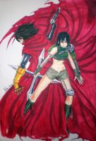 Vincent and Yuffie by AphexAngel