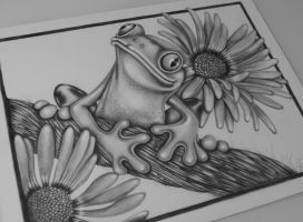 Tree Frog by Sandy-is-drawing