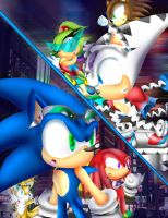 Team Sonic Meets Team Slash by spdy4