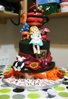Alice in Wonderland Cake by KatesKakes