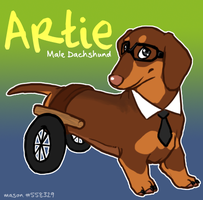 Glee Dogs :: Artie by srspibble