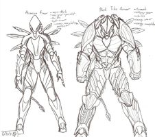 armour concepts by ObsidianOrder